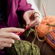 Crocheting hands — Stock Photo #20222355