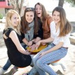 Happy teenage girls - Stock Photo