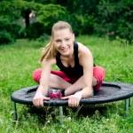 Mini trampoline — Stock Photo