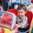 Little boy riding a car — Stock Photo #31101437