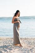 Schöne schwangere frau — Stockfoto