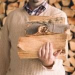 Chopped wood — Stock Photo