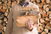 Doğranmış tahta — Stok fotoğraf