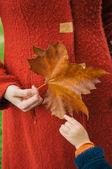 Enjoying autumn — Stock Photo
