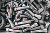 Pile of nuts and bolts — Stock Photo