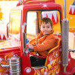 Fire truck ride — Stock Photo