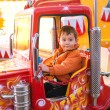 Stock Photo: Fire truck ride