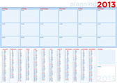 Planning calendar 2013 in english with copy-space — Stock Vector