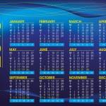 2013 night mood english calendar — Stock Vector #13422276