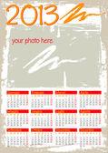 Grunge calendar 2013 italian — Stock Vector