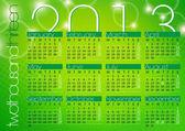 Green abstract modern background calendar 2013 — Stock Vector