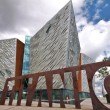 Stock Photo: Titanic Museum and cloudy sky, Belfast