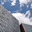 Titanic Museum and cloudy sky, Belfast — Stock Photo