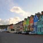 Small coloured irish village — Stock Photo