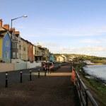 Small coloured village on Antrim coast — Stock Photo