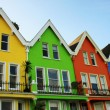 Stock Photo: Bright coloured wooden houses in northern Ireland