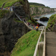 Carrick-a-rede rope bridge, antrim coast, northern ireland — Stock Photo