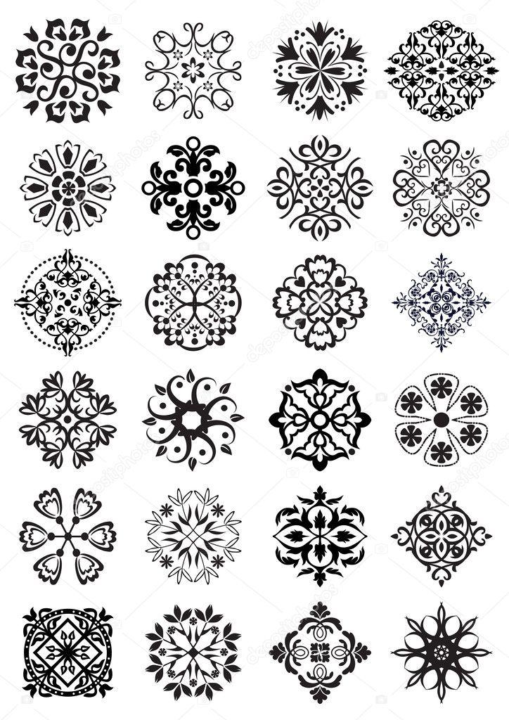 Dairesel damask süslemeleri — Stok Vektör © graphicjet ... | 724 x 1024 jpeg 168kB
