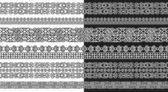 Abstract modular line Maya style — Stock Vector
