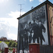 Stock Photo: Bloody Sunday wall-paintings road in Londonderry