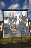 Bloody Sunday wall-paintings in Londonderry — Stock Photo