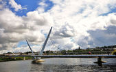 Peace Bridge, Londonderry — Stock Photo