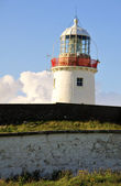 Irish white Lighthouse — Stock Photo