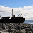 Shipwreck boat in Inisheer, Aran Islands — Stock Photo