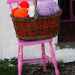 Wool balls in a basket in Ireland — Stock Photo #28401413