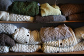 Natural colours wool sweaters — Stock Photo