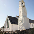 White small church in Inisheer, Aran Island, Ireland — Stock Photo