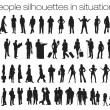 People silhouettes in situations — Stock Vector #33570621