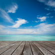 Platform beside sea — Stock Photo #31964507