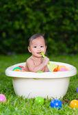 Baby having bath — Stock Photo