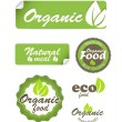 Royalty-Free Stock Vector Image: Eco food stickers isolated on white
