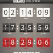 Colleccton of different color digital timers — Stockvektor #12540441