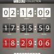Colleccton of different color digital timers — Vector de stock