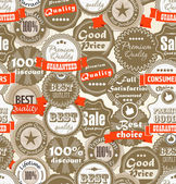 Fondo transparente de compras etiquetas de calidad premium — Vector de stock