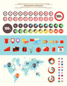 Infographic elements vector collection — Stok Vektör