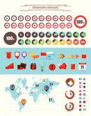 Infographic öğeleri koleksiyonu vektör — Stok Vektör