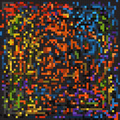 Abstract background of color mosaic elements — Vector de stock