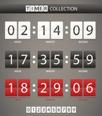 Colleccton of different color digital timers — Vettoriale Stock