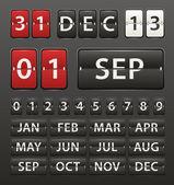 桁の数字セット — ストックベクタ
