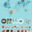 Infographic elements vector collection — Stock Vector #12652275