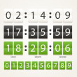 Colleccton of different digital timers — Vector de stock