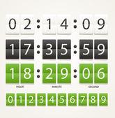 Colleccton van verschillende digitale timers — Stockvector
