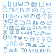 70 pixel web icons collection — Stock Vector