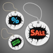 Discount shopping tags set — Stock Vector