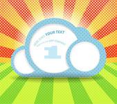 Abstrakt glödande moln. mall för en text — Stockvektor