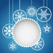 Stock Vector: Abstract christmas balls with ornament of snowflakes